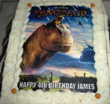 Superstition is all we have left happy birthday james on to james actual birthday today and it was time for another cake this time james decided he wanted a cake bearing the image of aladar the dinosaur out thecheapjerseys Gallery
