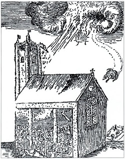 Ball lighning at Widecombe in 1638