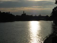 Zachód słońca nad Wrocławiem