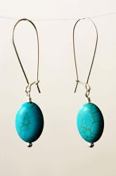 turquoise earrings from stella and dot