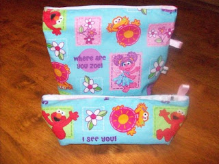 reusable bags for kids in sesame street print