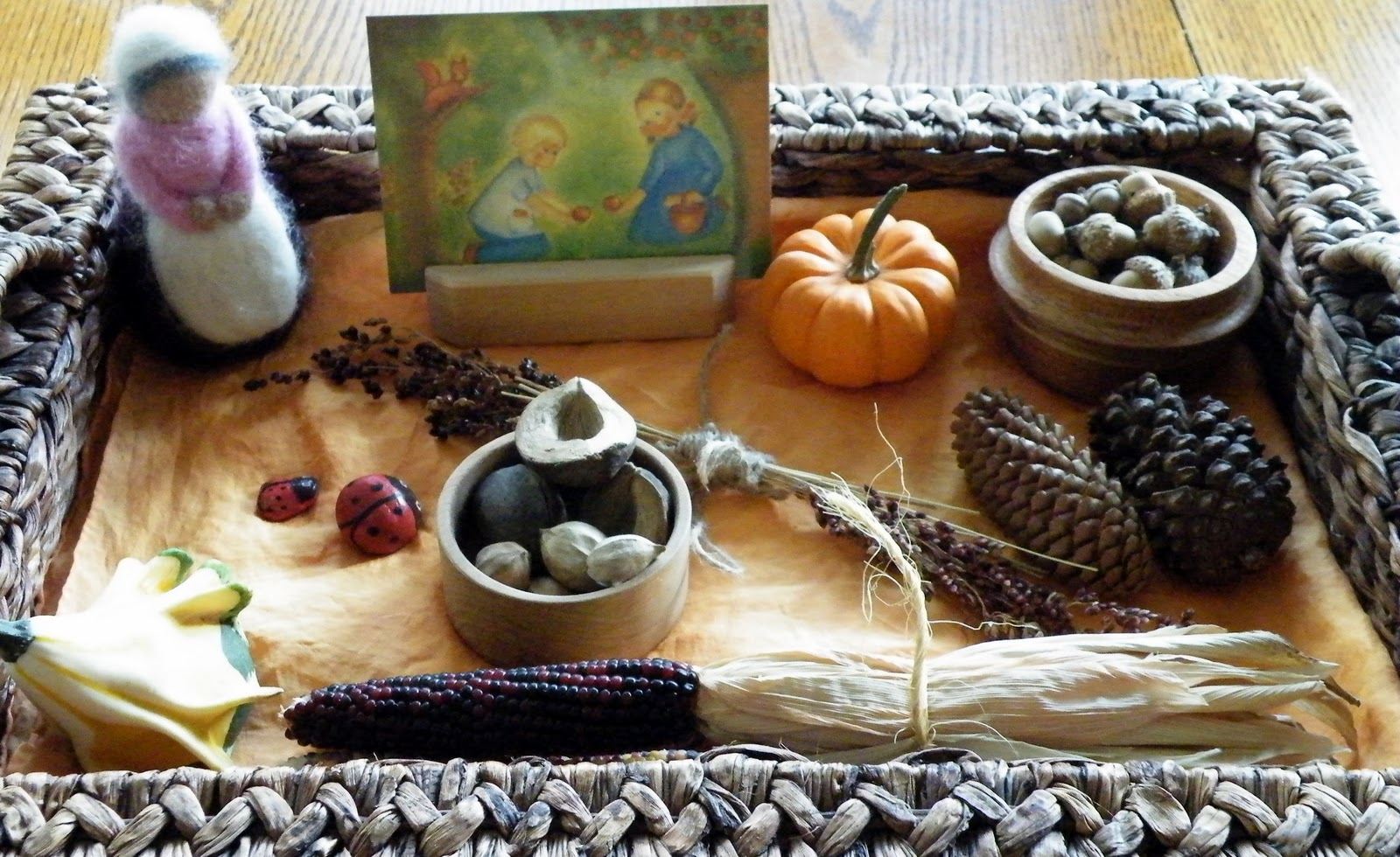 Fall Nature Tray (Photo from One Hook Wonder)