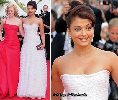 aishwarya rai hairstyle. Aishwarya Rai, like Elizabeth Banks, wore a gown with stunning train.