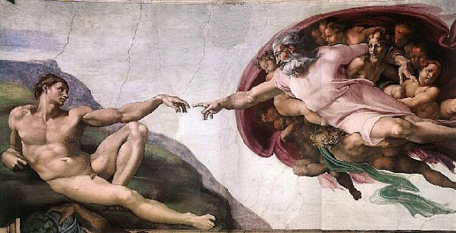 Creation of Man. (Michelangelo.  Capella Sistina)