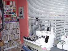 view of sewing machine and pattern and ribbon area