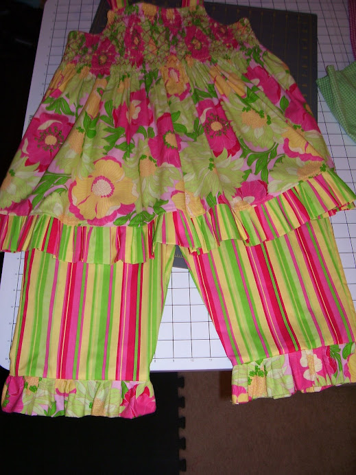 halter with matching capris