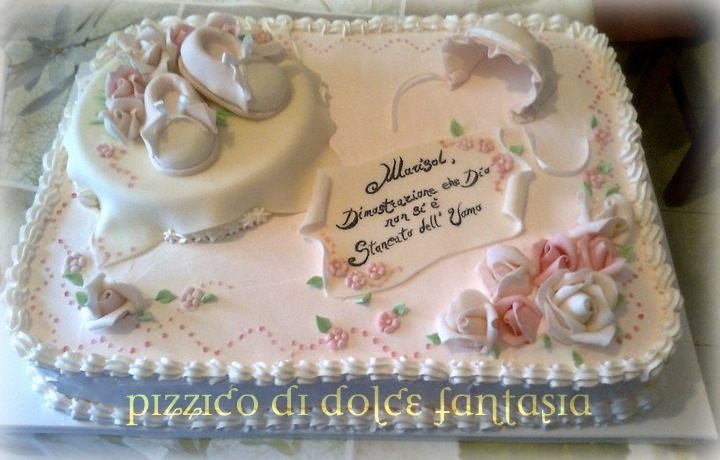 Extrêmement Pizzico di Dolce Fantasia ..: Torta Battesimo Marisol MI79