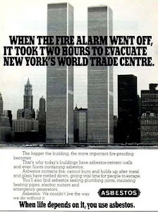 World Trade Center, New York collapsed Thousands of tons of asbestos became airborne.