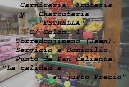 ESTRELLA--- CARNICERÍA, CHARCUTERÍA Y FRUTERÍA.