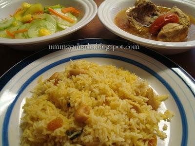 Nasi Beriani+Ayam Beriani+Acar Timun