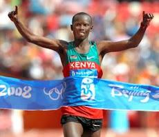 北京五輪の男子マラソンで<br>優勝したワンジル