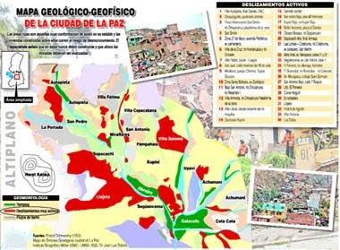 Umsa identifica 34 deslizamientos activos la alcald a for Cementerio jardin la paz bolivia