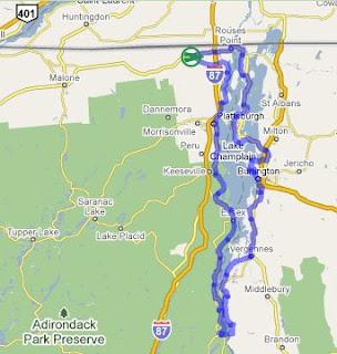 Lake Champlain Bike Trip The Bike Route