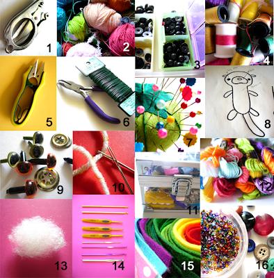 berrysprite: Amigurumi Craft Series #1- amigurumi tool kit
