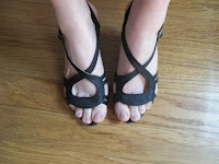 sandales noir style camper