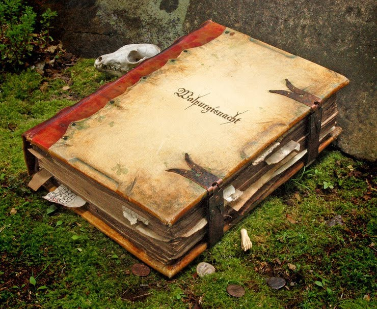 Book Covered In Human Skin ~ Loopy rocket year old prop book or why i wanted to