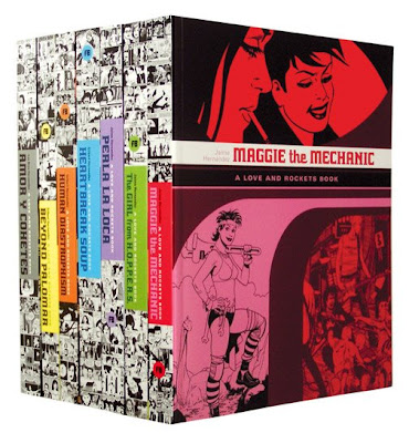 A repackaging of the pioneering alternative comic book, Love and Rockets.