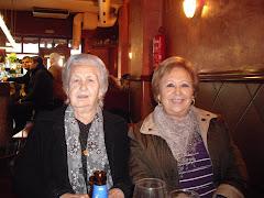 Con mi tía Rosario y mi prima Mari