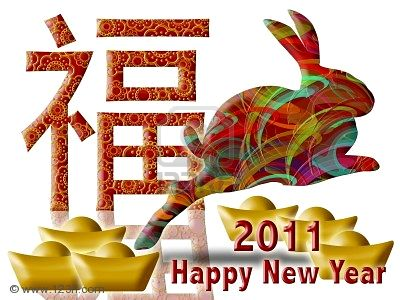 happy new year in chinese rabbit. Happy Chinese New Year