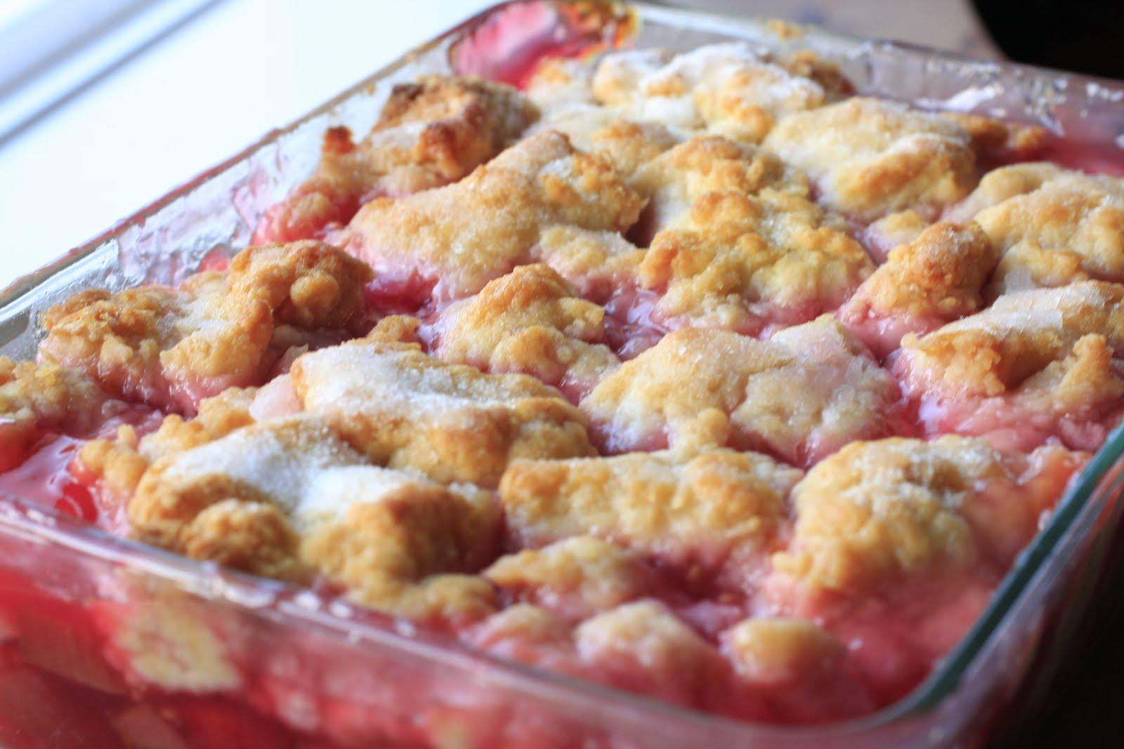 Butter + Cream: Raspberry Rhubarb Cobbler