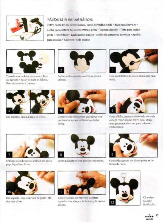 Moldes de la casa de Mickey Mouse en foami - Imagui