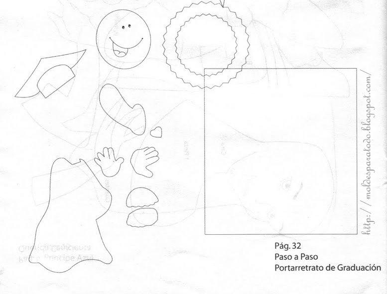 Molde y figuras de sucha foami de graduación - Imagui