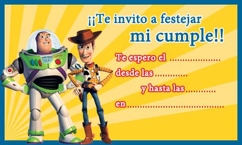 Moldes para Todo: * Invitaciones de Toy Story