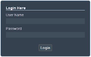 css based login form