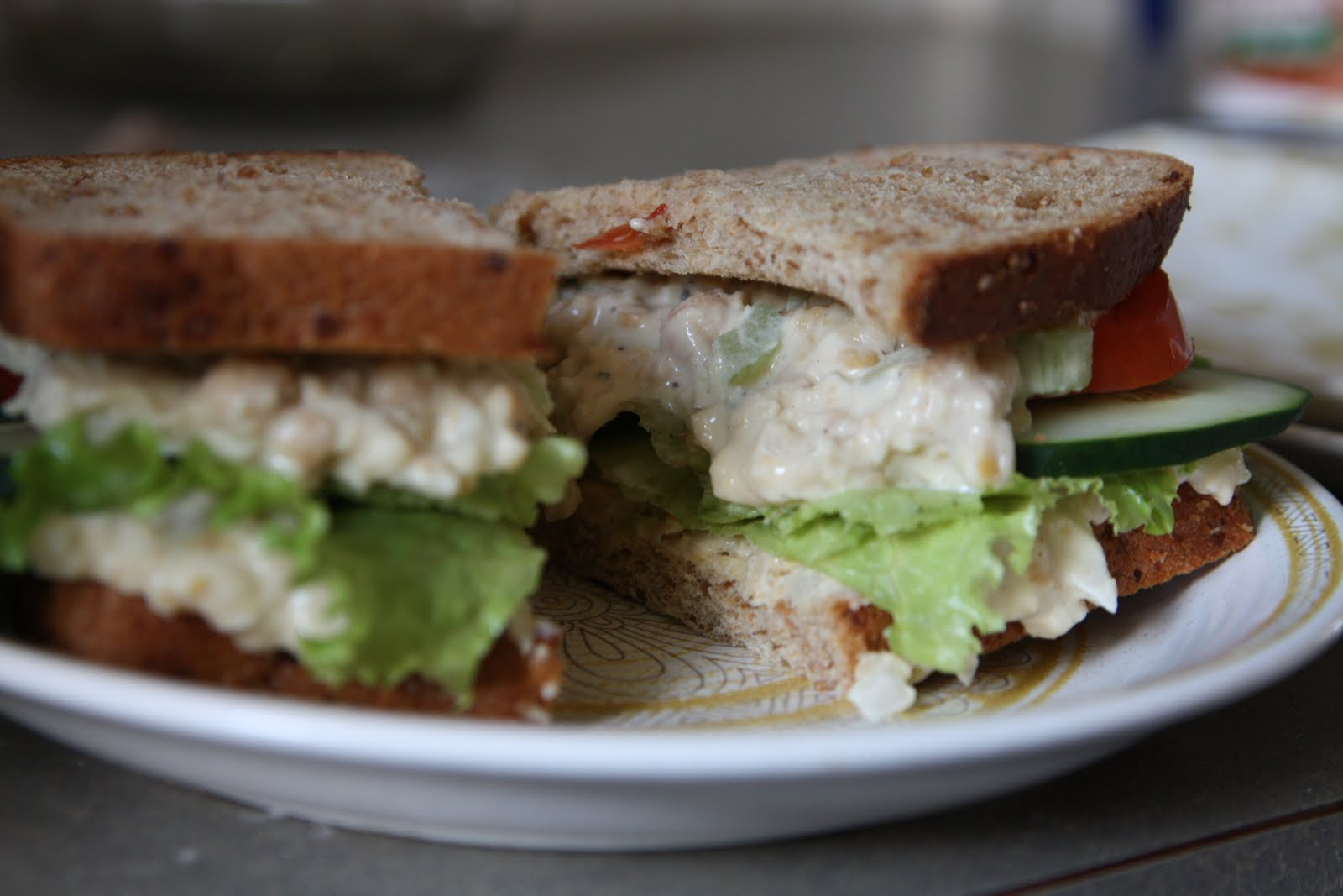 "In My Vegan Life: VeganMoFo: Mom's ""Tuna"" Salad Sandwich"