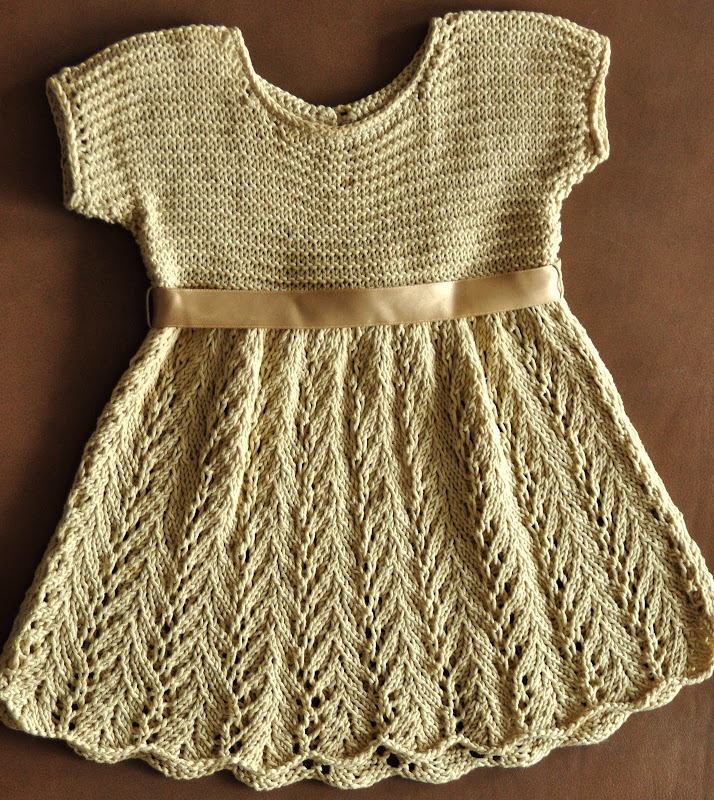 Aesthetic Nest Knit Lace Dress For Audreys One Year Portrait