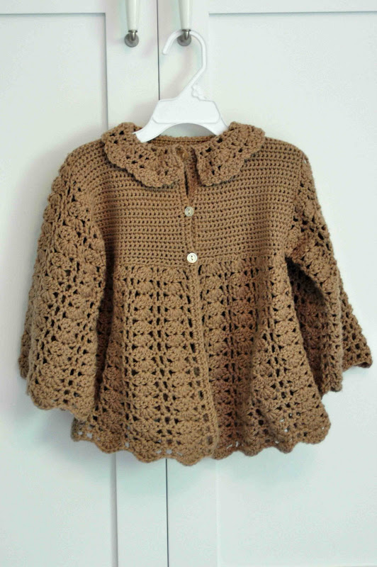Free Crochet Pattern Toddler Girl Sweater : Aesthetic Nest: Crochet: Toddler Version of Baby ...