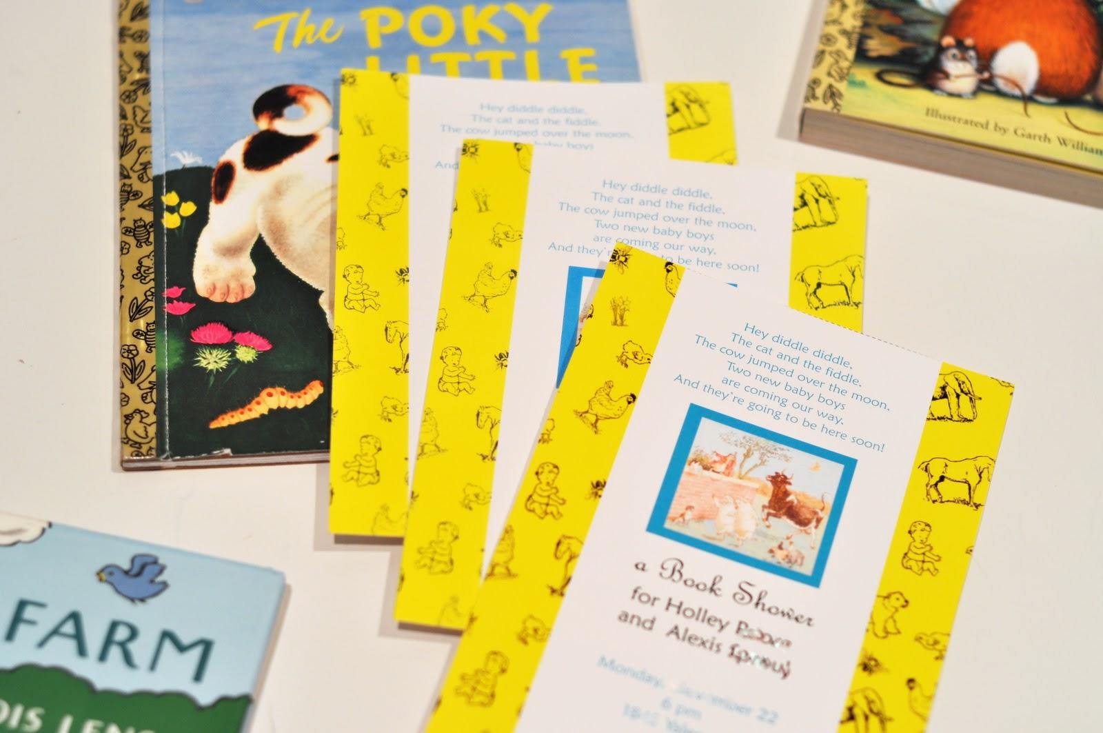 aesthetic nest invites golden books baby shower invitation