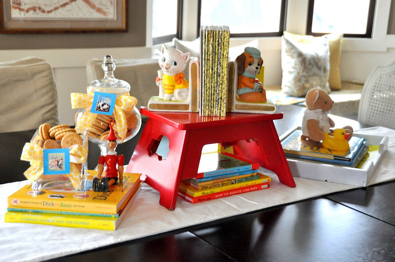 I Used Paper With My Golden Books Motif To Line This White Tray  Such An  Easy Way To Perpetuate The Theme. Those Are Two Of Scarlettu0027s Favorite  Toys: A ...