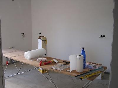 hausbau in ellerhoop mit eco systemhaus tapezieren mit vlies. Black Bedroom Furniture Sets. Home Design Ideas