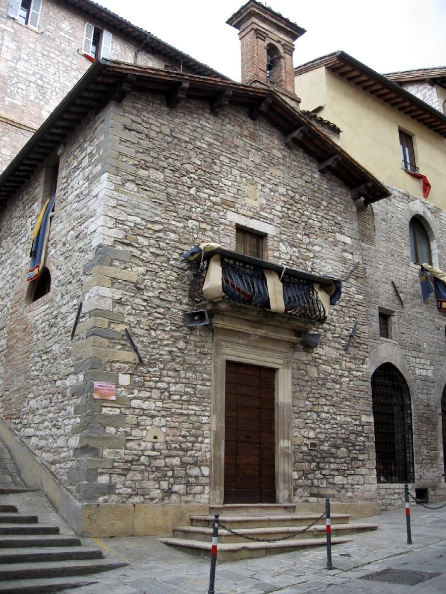 Of san francesco containing the tomb of the wolf gubbio umbria