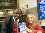 Dr Myles Monroe and Kathleen with her book Parents on the Move!
