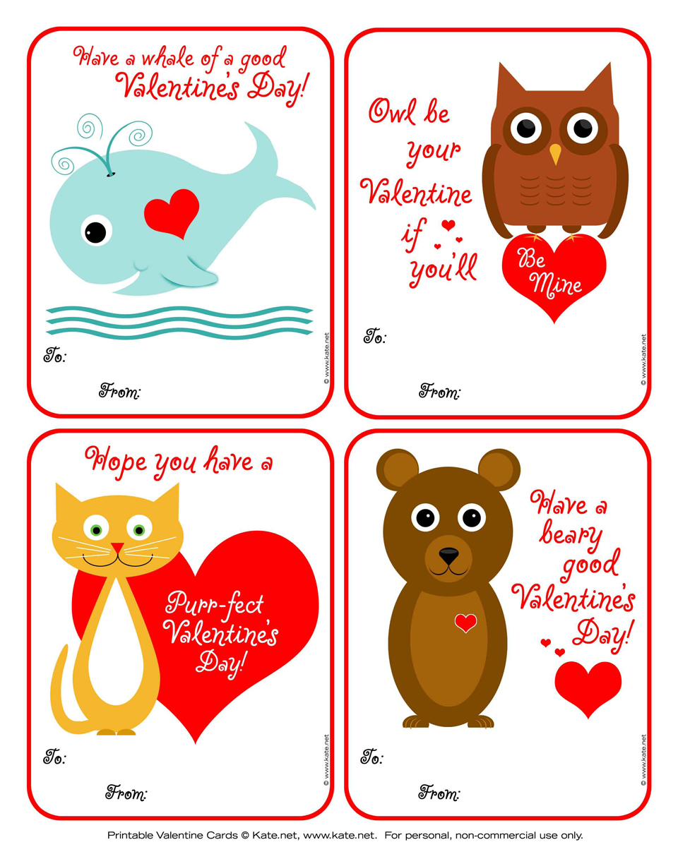 Kids Valentine Card Printables Crafthubs – Online Printable Valentine Cards