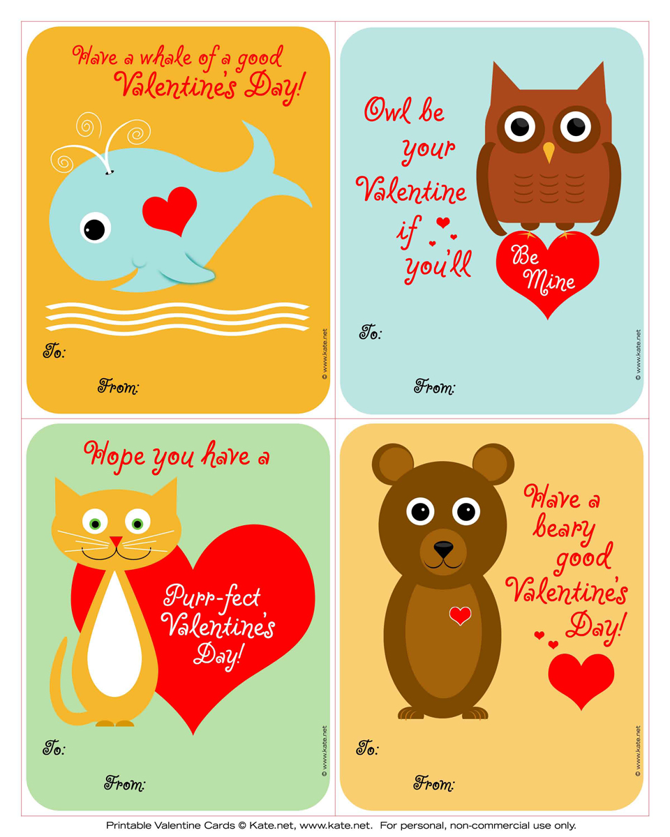 iheartprintsandpatterns Valentines Day Cards katenet – Valentine Day Cards Printable