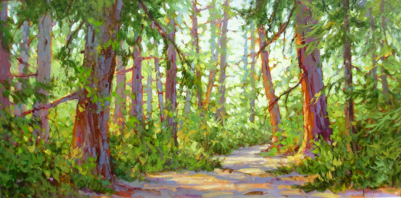 Amanda jones art another trail for Painting a forest in acrylics