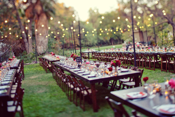 Backyard Wedding Reception Decorations