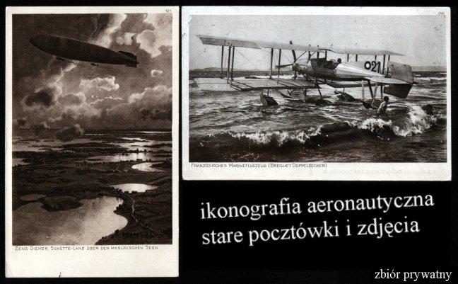 ikonografia aeronautyczna pocztówki zdjęcia lotnicze