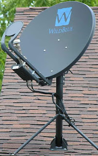 Mini dish antenna satellite internet