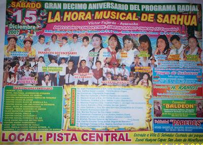 10 Aniversario la Hora Musical de Sarhua