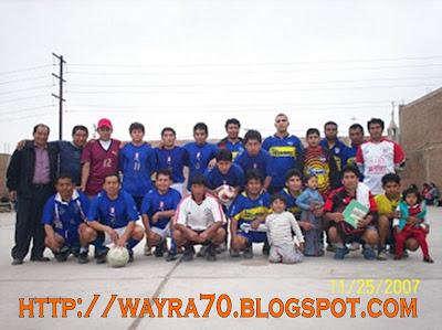Equipos deportivos de Sarhua 2007