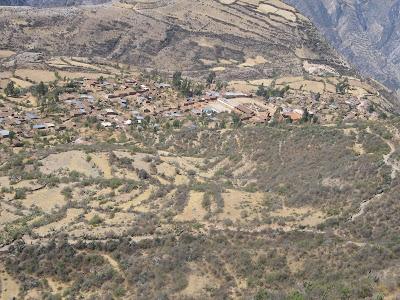 Vista panorámica de Tiquihua, Hualla, Víctor Fajardo, Ayacucho
