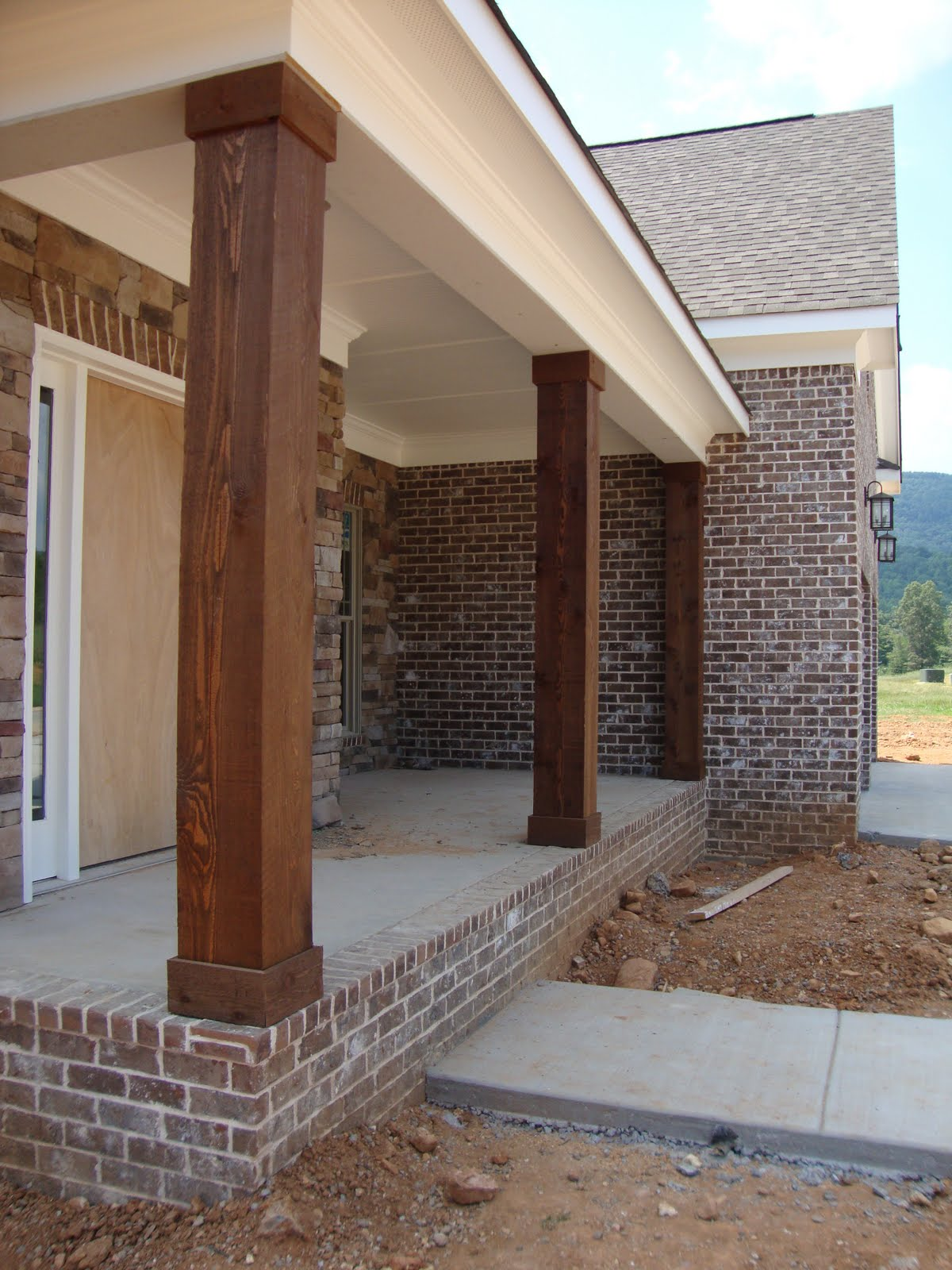 Porch Pillars And Columns : Images about porch columns and railing on pinterest
