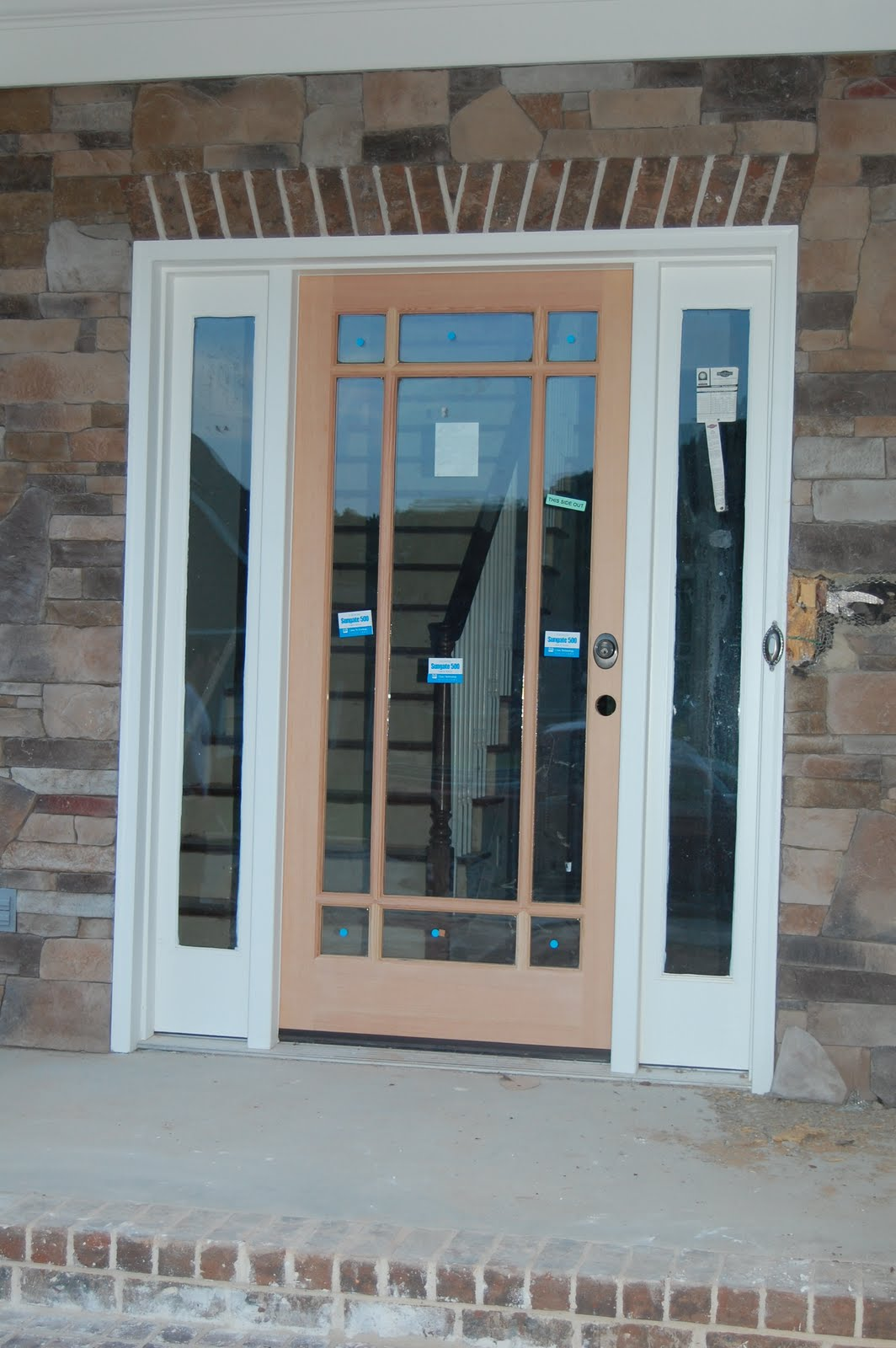 1600 #4C6C7C Used A Full Glass Front Door With A Prarie Grill The Wood Will Be  picture/photo Glass Front Doors 39491064