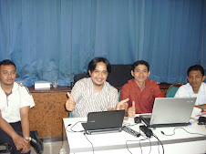 lagi acara di Srijaya bersama tim