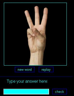 sign language practice