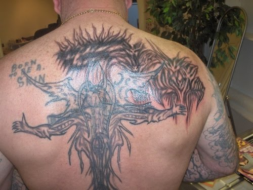 Gothic tattoos- back tattoo